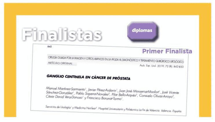 Primer finalista premio Pérez Castro sobre cáncer de próstata